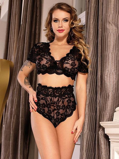 Black Sexy Lace Set (60,000 Ugx )