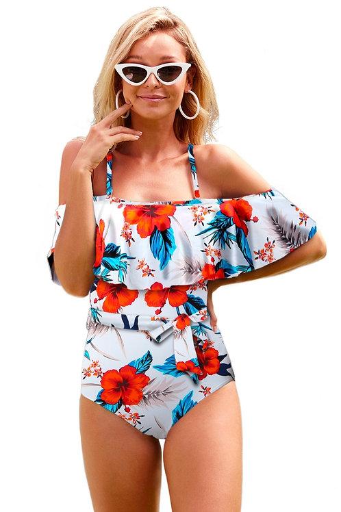 Off Shoulder Floral Hot Bathing suit