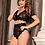 Thumbnail: Seduction Sexy Girls High Waist Black Full Lace Bra Panty Underwear