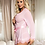Thumbnail: Pink Sallonaa Lingerie intimate Lace trim robe with G string
