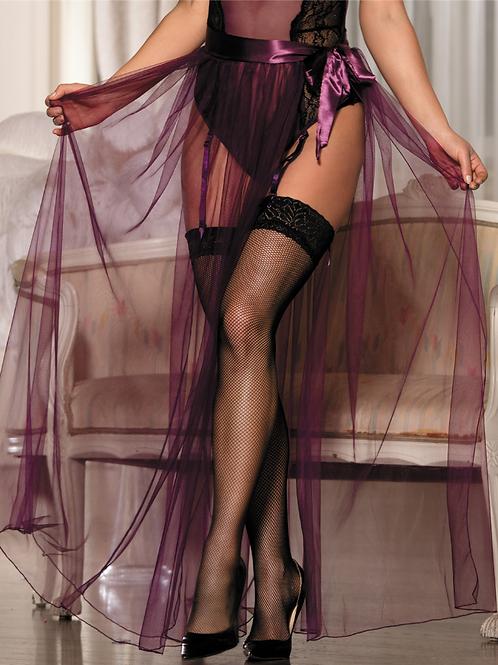 bridal Lingerie for honeymoon  Dignity Purple Transparent Skirt-sallonaa swi.png