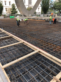 Elevated Concrete Deck Reinforcing