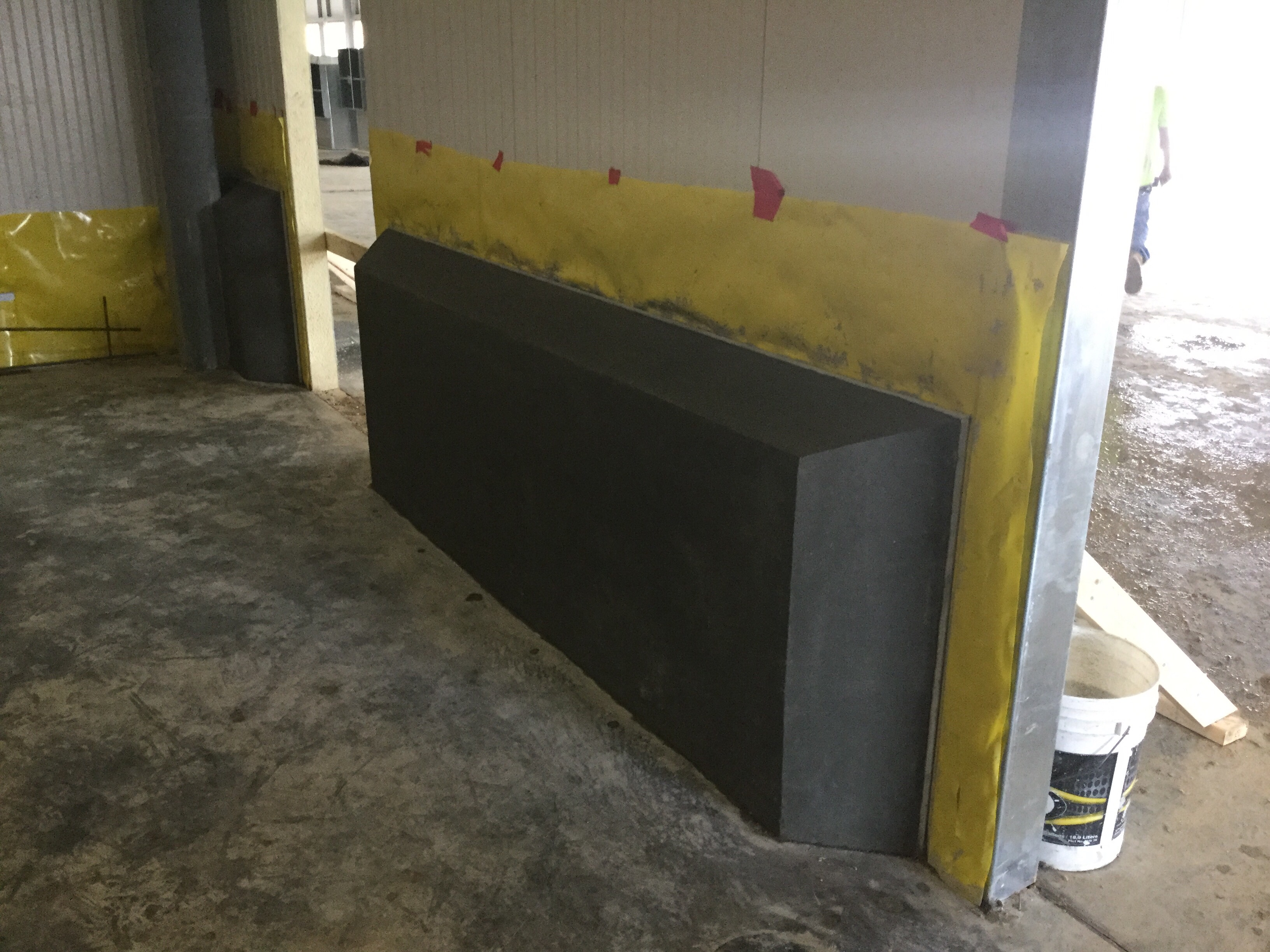 Concrete Blast Freezer Curbs