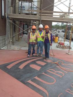 Sandblasted Concrete Logo