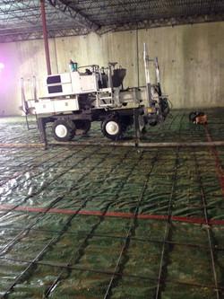 Laser Screed Concrete Pour