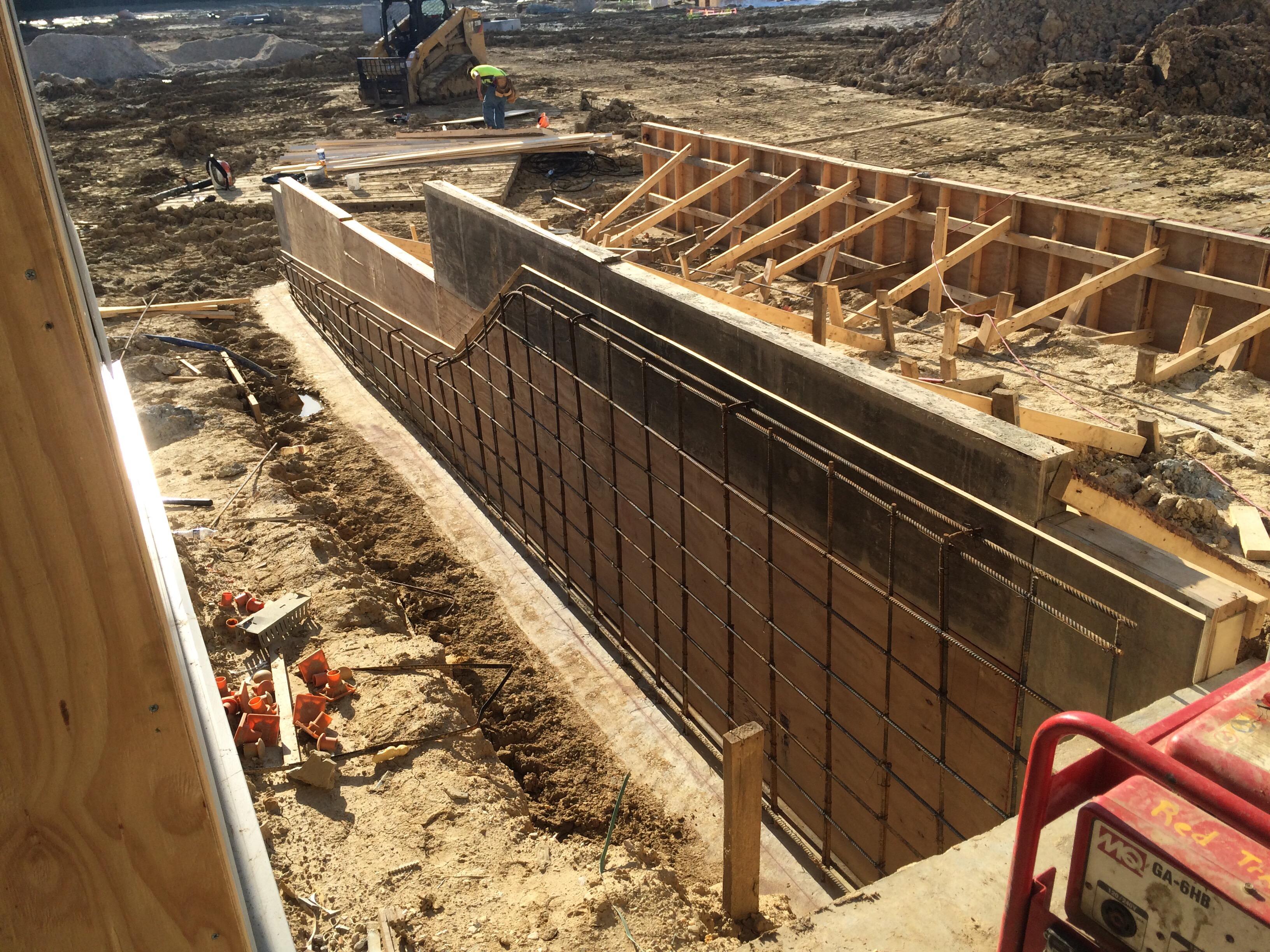 Concrete Ramp Walls