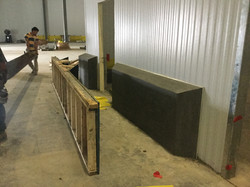 Blast Freezer Concrete Curbs