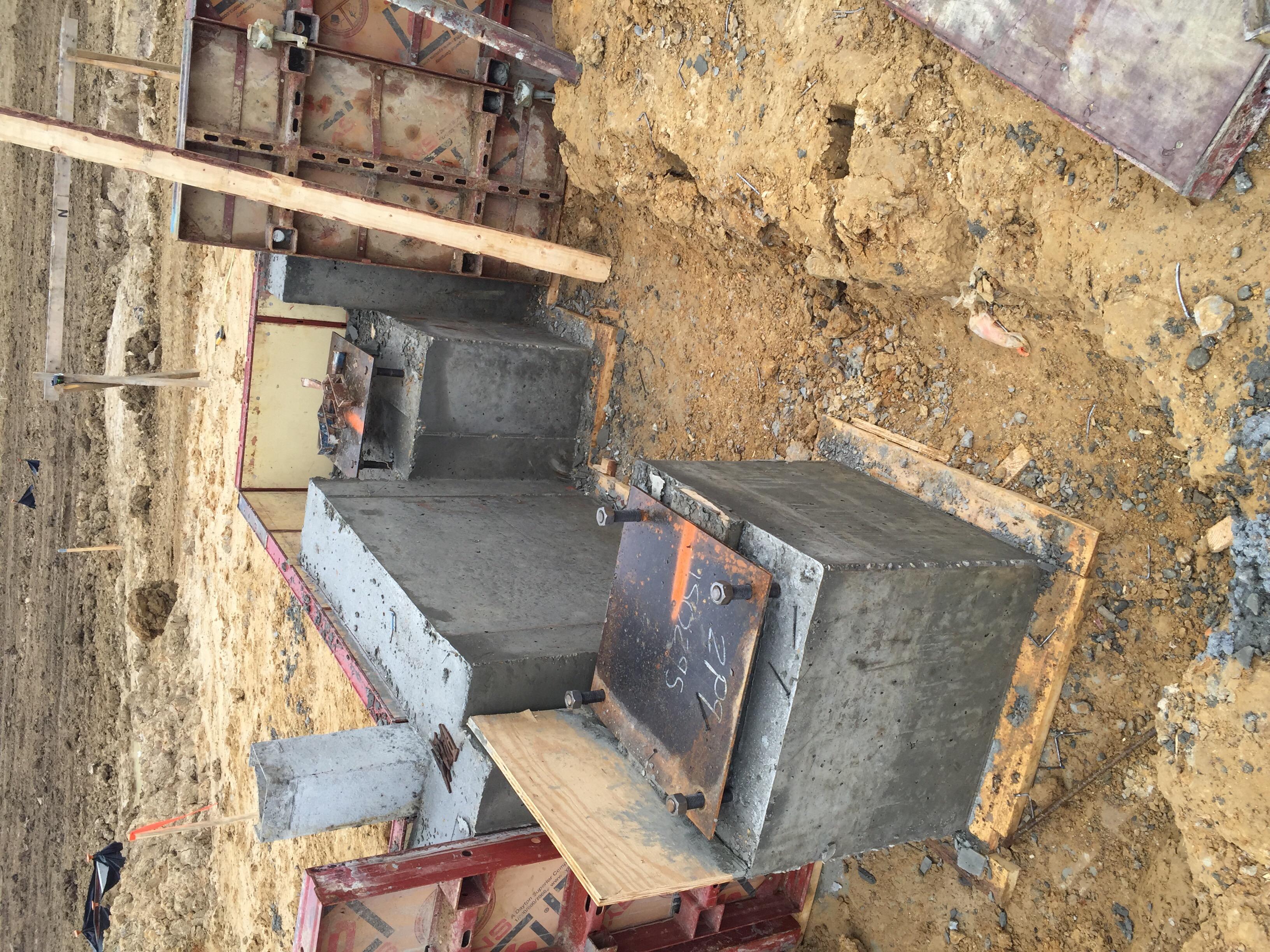 Concrete Foundation Pedistal