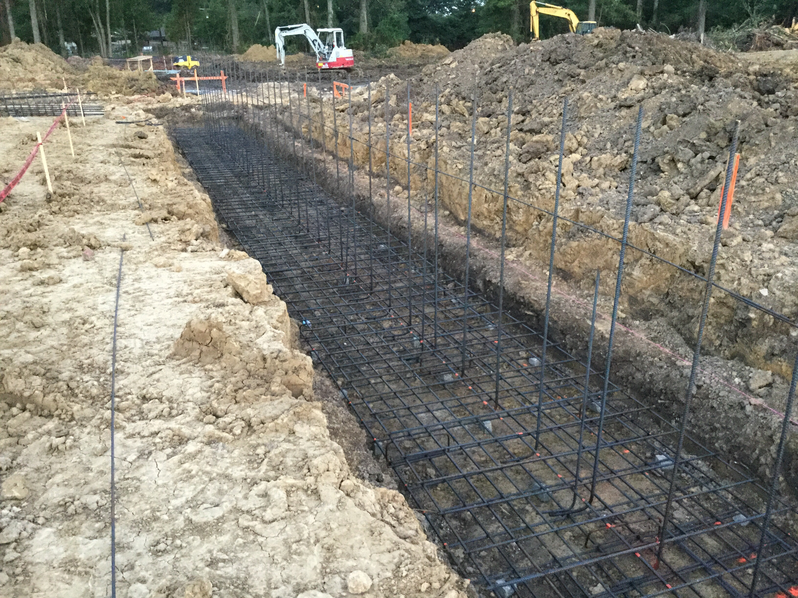 Concrete Retaining Wall Footing