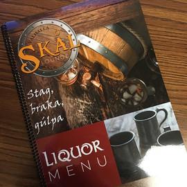 Skal Lounge Menu