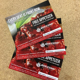 Red Zone Free Appetizer Cards