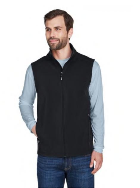 Core 365  - Men's Cruise Two-Layer Fleece Bonded Soft Shell Vest