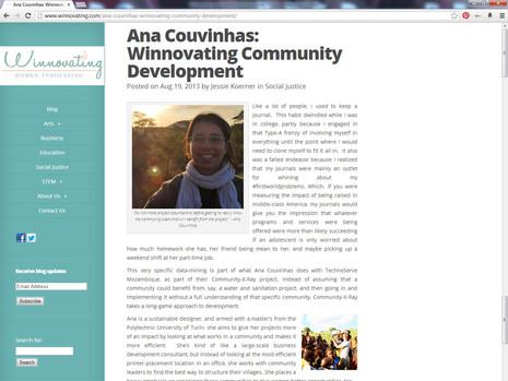 "In Mozambique, ""Winnovator"" for Community Development"
