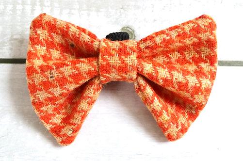 Tangerine & Biscuit Tweed Wool Dicky Bow