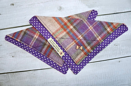 Purple Tweed Neckerchief Bandana