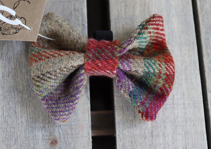 Red/GreenTweed Wool Dicky Bow