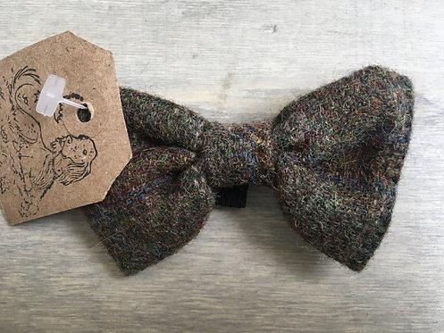Green Irish Tweed Wool Dicky Bow