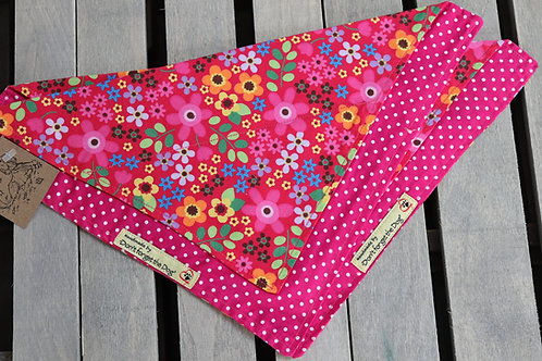Cerise Pink Cotton Neckerchief Bandana