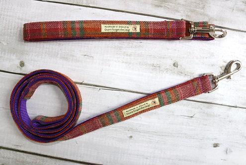 Purple Green & Russet Tweed Wool Lead Metal Trigger Clasp