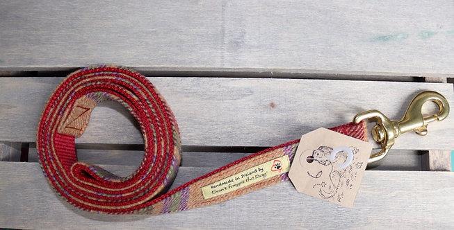 Burgundy Tweed Wool Lead Brass Trigger Clasp