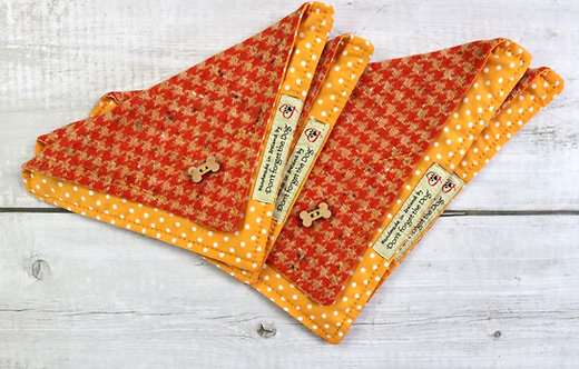 Tangerine & Biscuit Tweed Neckerchief Bandana