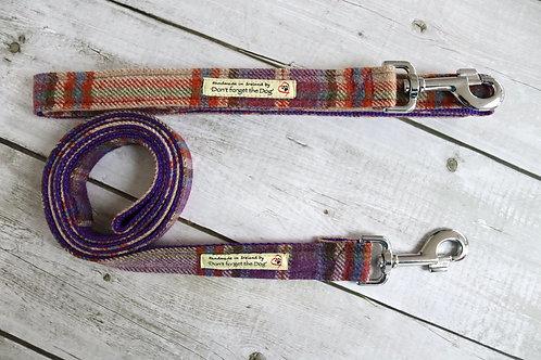 Purple Tweed Wool Lead Metal Trigger Clasp
