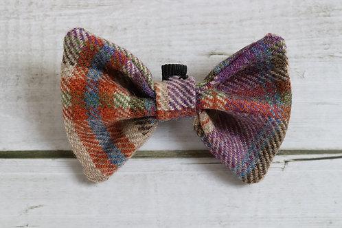 Purple Tweed Wool Dicky Bow
