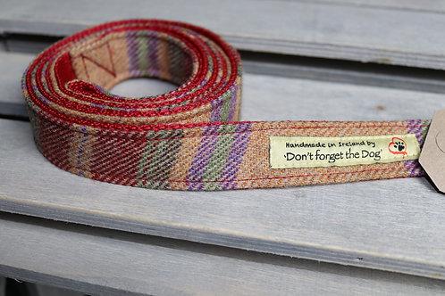 Burgundy Tweed Wool Lead Metal Trigger Clasp