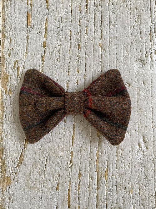 Brown & Red Tweed Wool Dicky Bow
