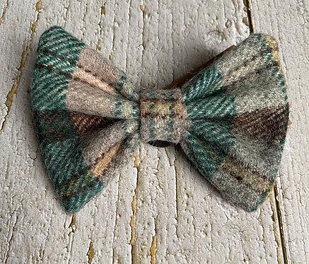 Yellow & Green Tweed Wool Dicky Bow