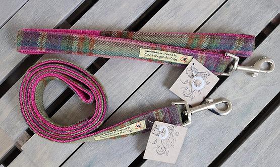 Pink Tweed Wool Lead Metal Trigger Clasp
