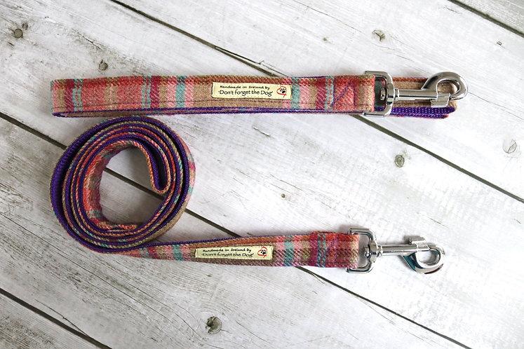 Pink & Purple Tweed Wool Lead Metal Trigger Clasp