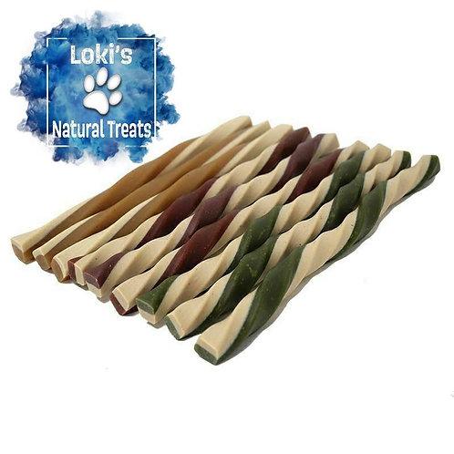 Loki's Natural Treats (3 x Fruit & Veg Straws - With Coconut Oil)
