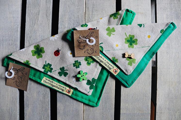 'Happy Little Irish Neckerchief Bandana