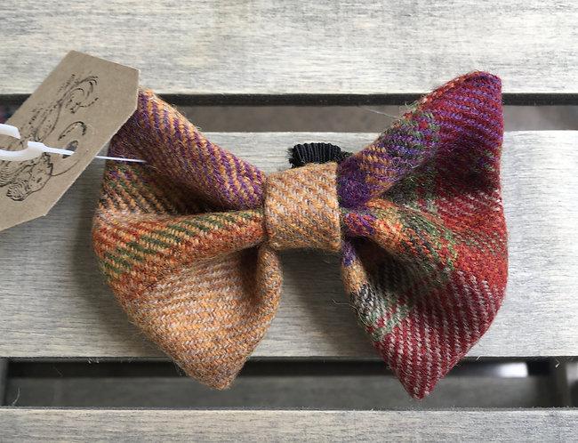 Burgundy Tweed Wool Dicky Bow