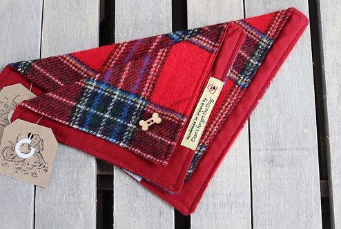 Red Tartan Wool Neckerchief Bandana