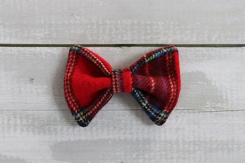 Red Tartan Dicky Bow