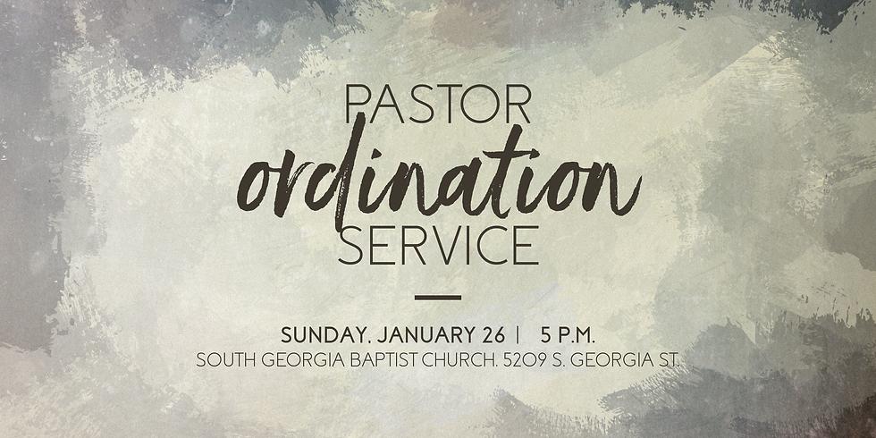 Pastor Ordination Service