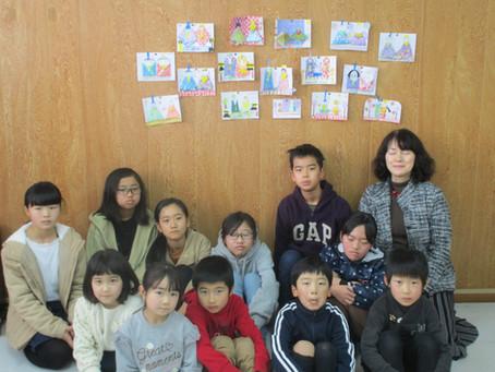 ゆきキッズクラブ 第2回 楽描き教室 ひな飾り 2月15日