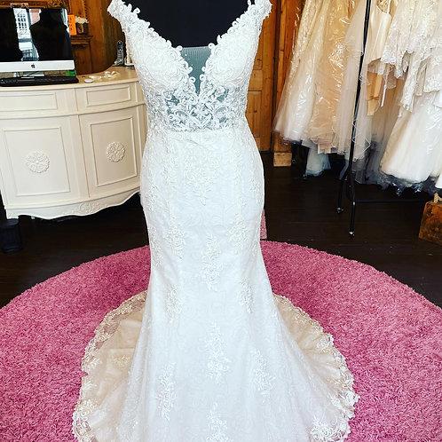 Ronald Joyce 'Teal' Wedding Dress