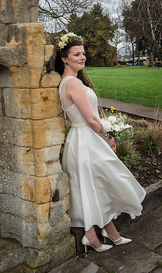 Tea Length Wedding Dress Pre-Loved Bridal Boutique Evesham Worcestershire
