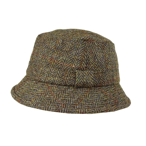 Brown Harris Tweed Grouse Hat