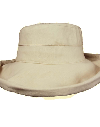 Large Brim Linen Hat