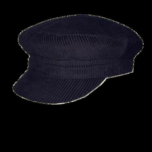 Black Corduroy Breton Cap