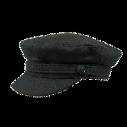 Black Wool Breton Cap