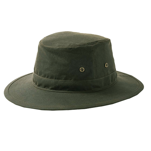 Olive Green Wax Bucket Hat - Failsworth