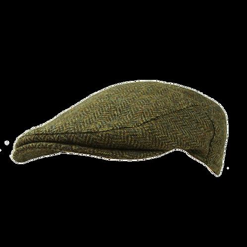 Green Merino Flat Cap 1087