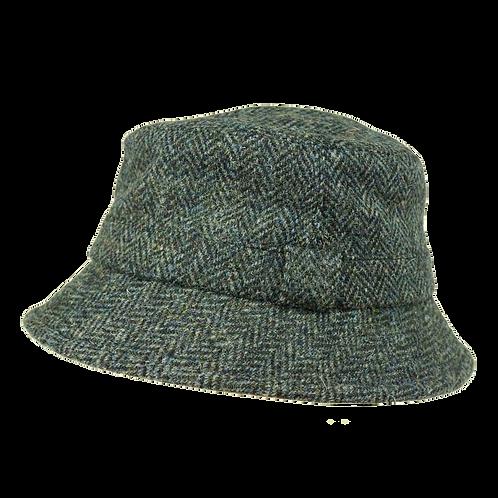 Blue Grey Harris Tweed Grouse Hat