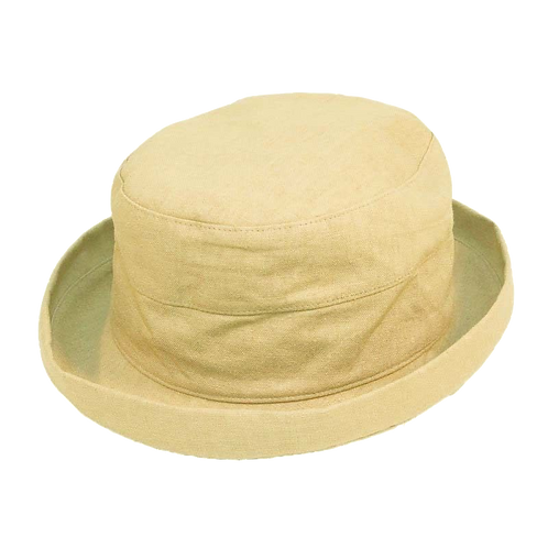 Small Brim Linen Hat