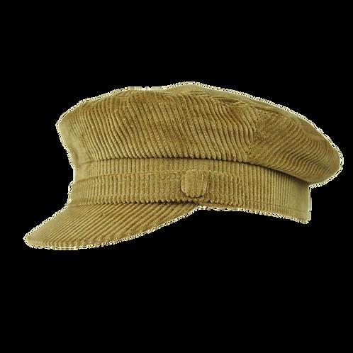 Fawn Corduroy Breton Hat